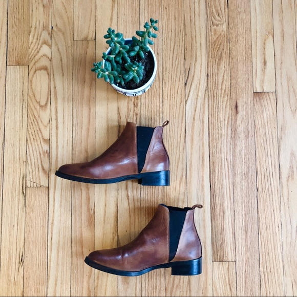 Leather Chelsea Ankle Boots Brown